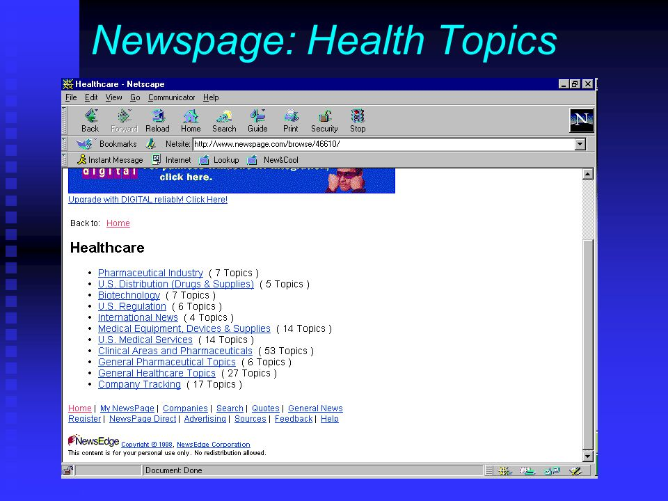 Newspage: Health Topics