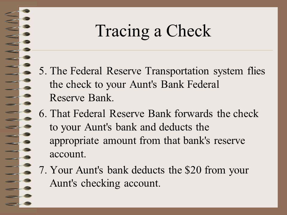 Tracing a Check 5.
