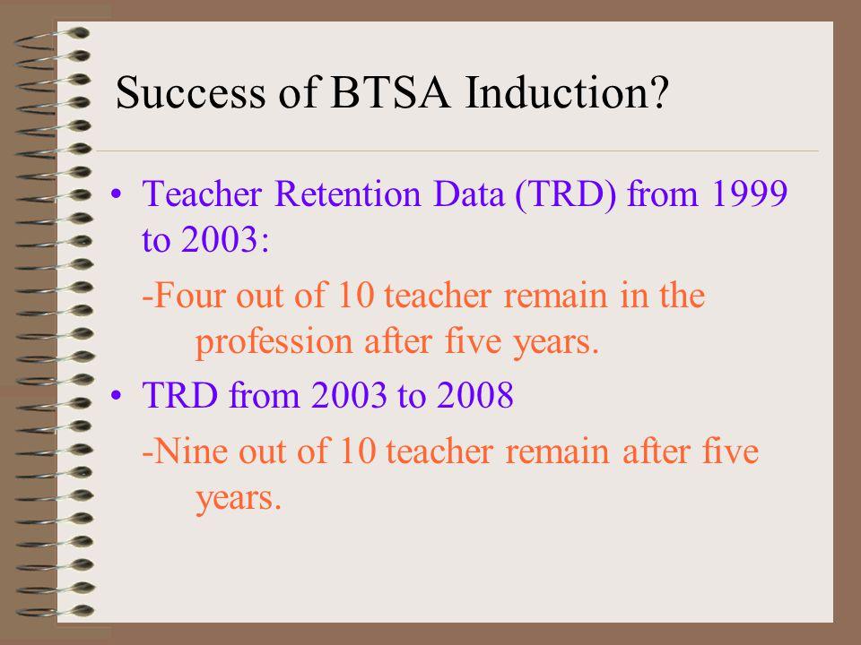 Success of BTSA Induction.