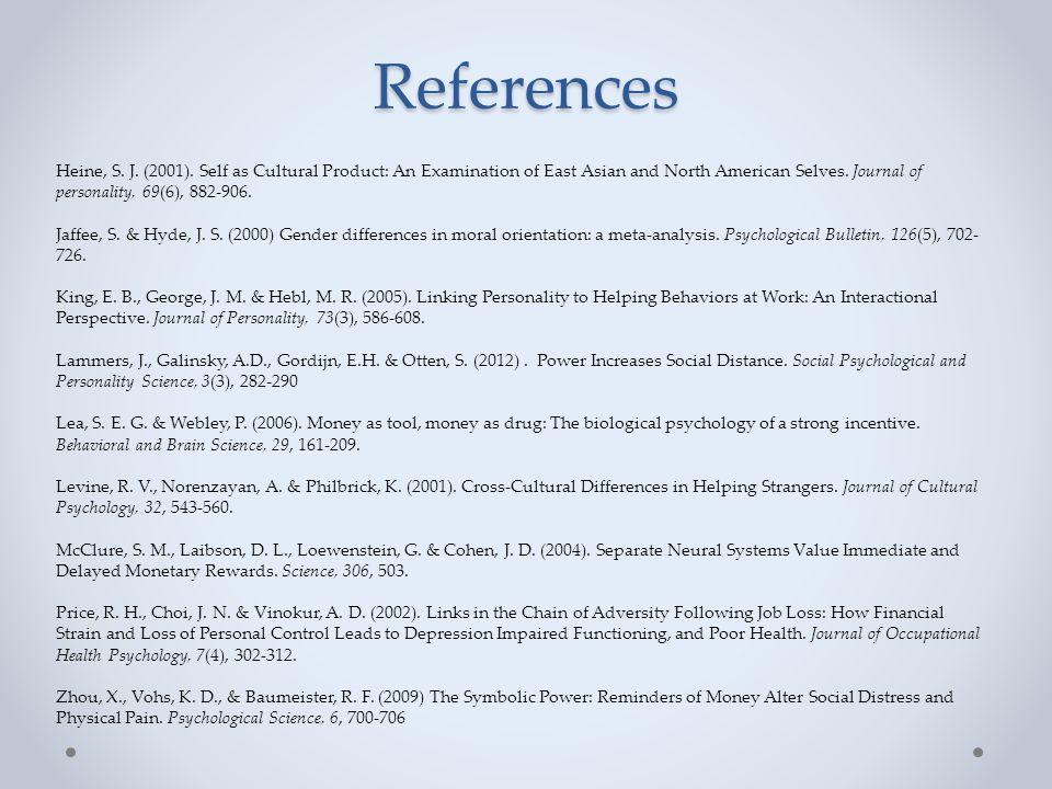References Heine, S. J. (2001).
