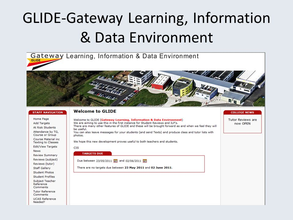 GLIDE-Gateway Learning, Information & Data Environment