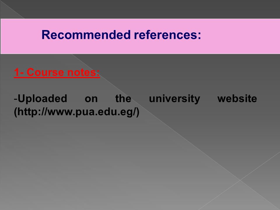 2- Required books (text books): Chira, J.and Callender, J.H., (2001).