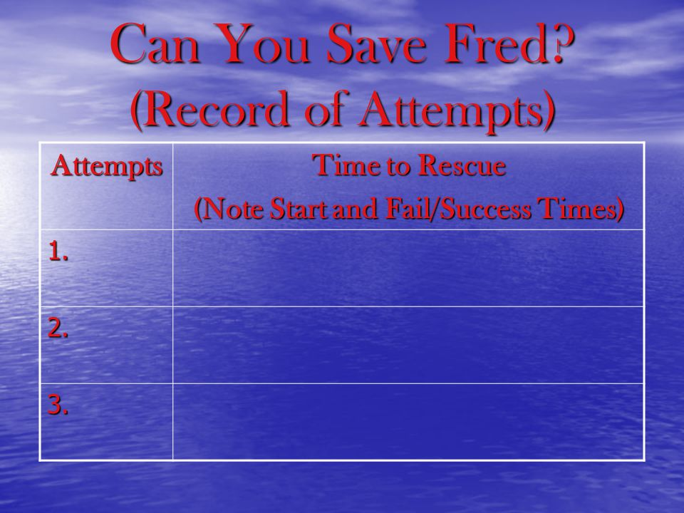 Can You Save Fred.