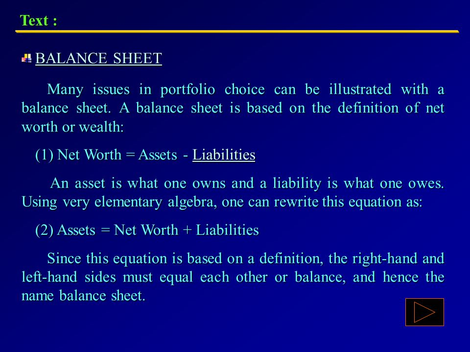 Text : If they want a higher return, they usually have to accept more risk or less liquidity.