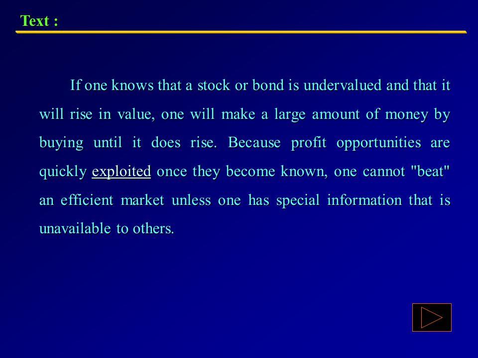Text : A financial market is an