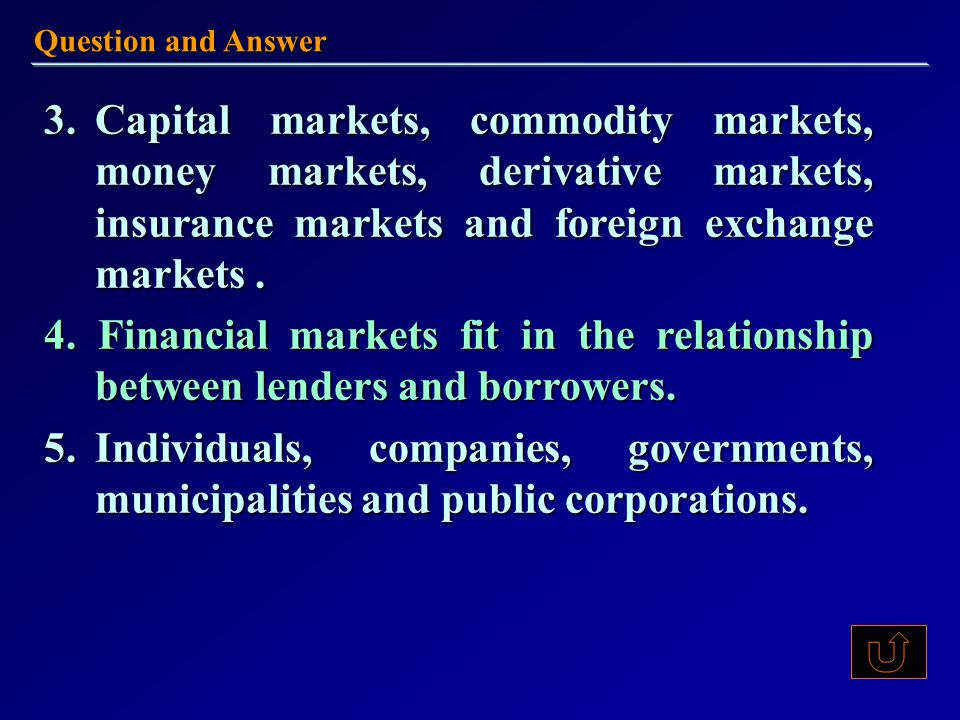 Exercises Thus, two ________ of investors emerged.