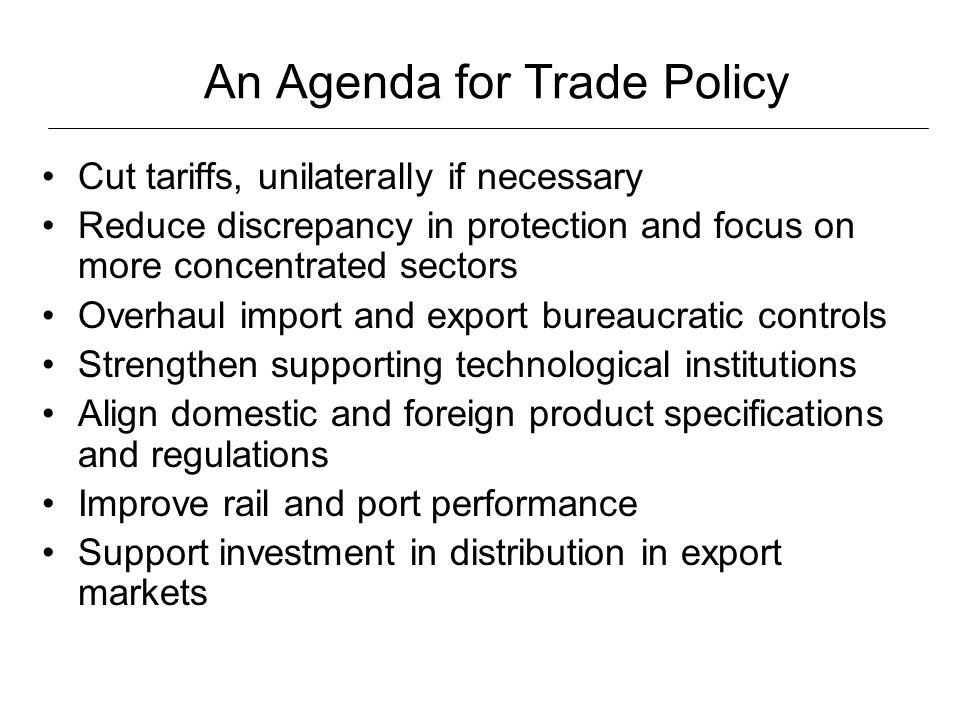 Bureaucracy in foreign trade: Imports Source: World Bank, WDI 2005.