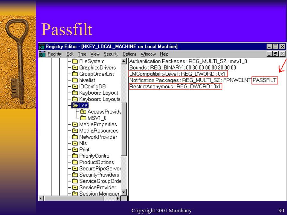 Copyright 2001 Marchany30 Passfilt