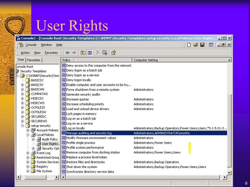 Copyright 2001 Marchany6 User Rights