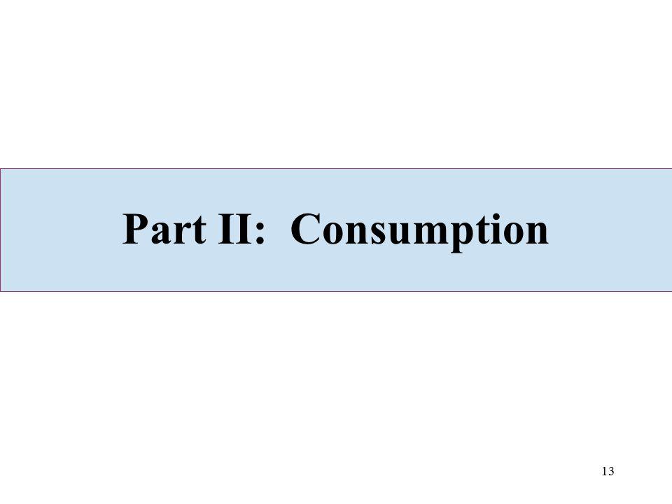 13 Part II: Consumption