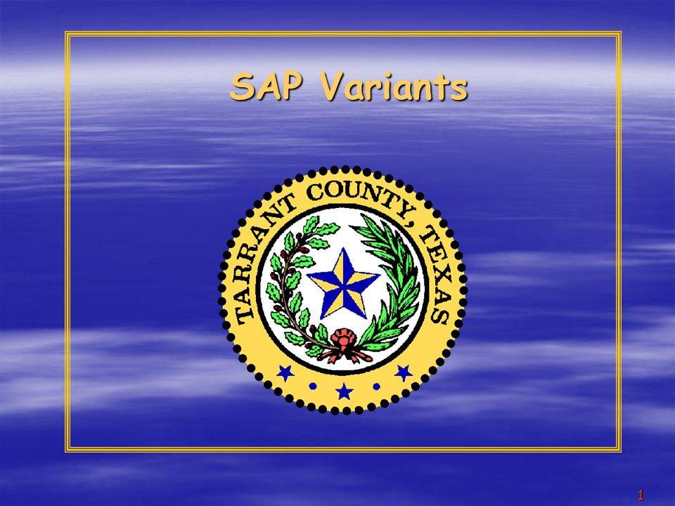 2 COURSE OBJECTIVES  Understand what a SAP variant is and what it is used for  Create a variant  Access an existing variant  Display a variant  Change a variant  Delete a variant