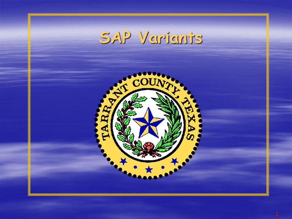 1 SAP Variants