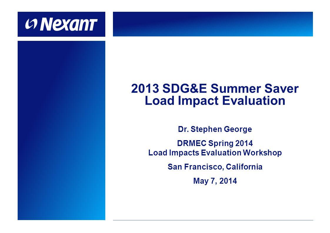  Summer Saver program overview  Ex post methodology and results  Ex ante methodology and results  Relationship between ex post and ex ante 1 Agenda