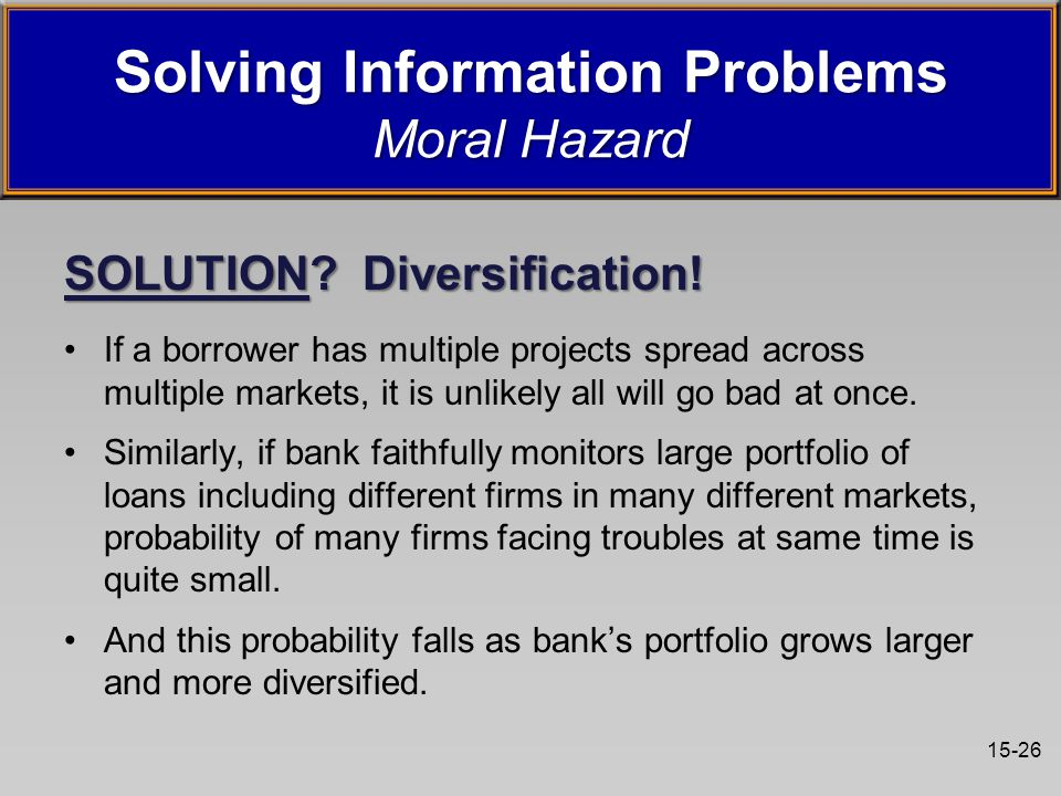15-26 SOLUTION. Diversification.
