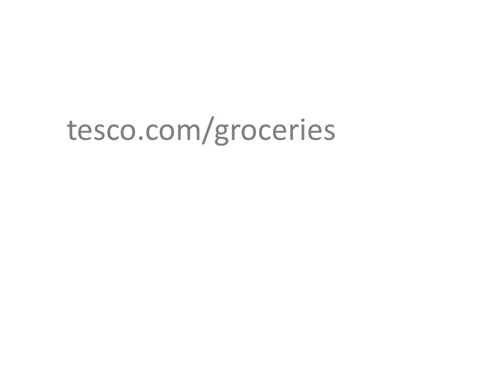 Tesco.com is dropping service changes for grocery home shopping: Grocery Delivery changes down and staying down: 1hr slots from £1 Grocery Click and Collect, now free Delivery Saver prices cut + savings guarantee Minimum basket of £25 This price investment is an integral part to Tesco's ongoing commitment to help people make their money go further: PRICES DOWN AND STAYING DOWN.