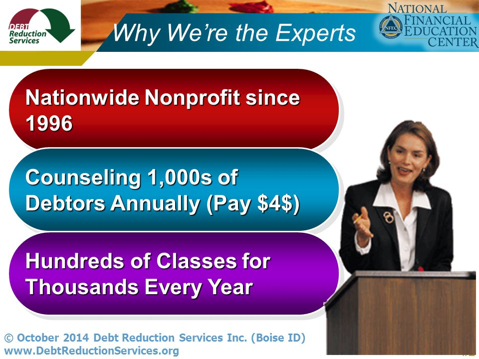 #2 © October 2014 Debt Reduction Services Inc.