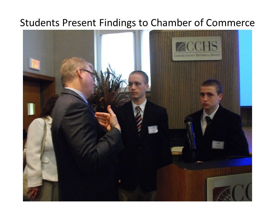 Students Present Findings to Chamber of Commerce