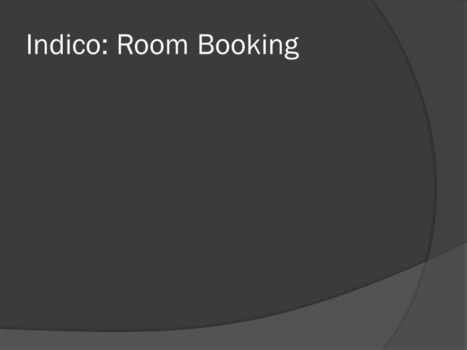 Indico: Room Booking