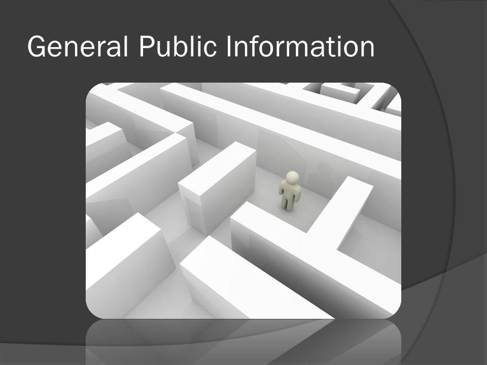 General Public Information