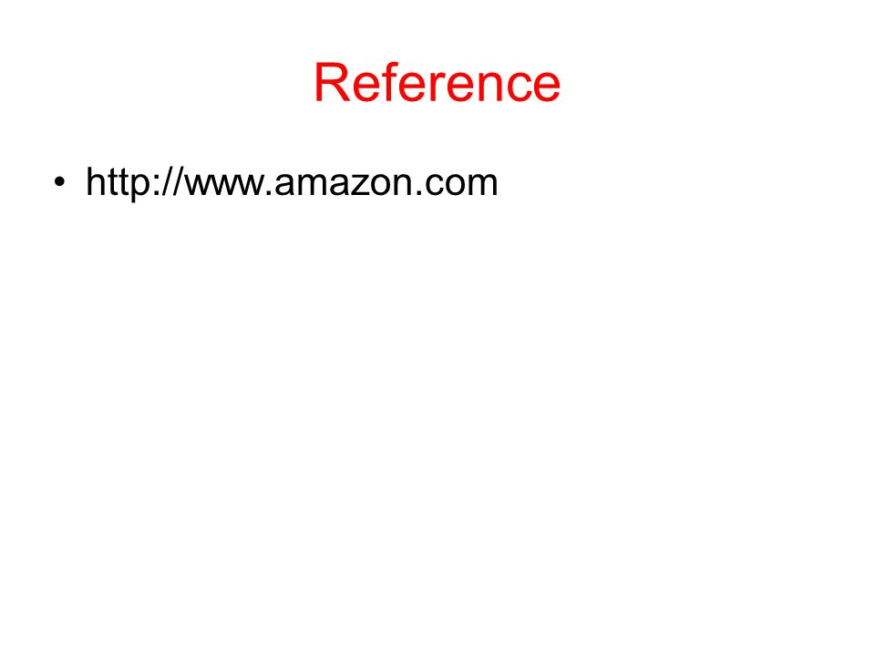 Reference http://www.amazon.com