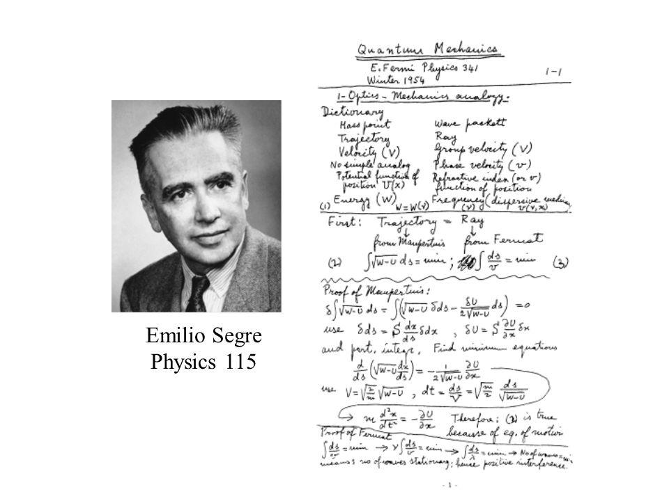 Emilio Segre Physics 115