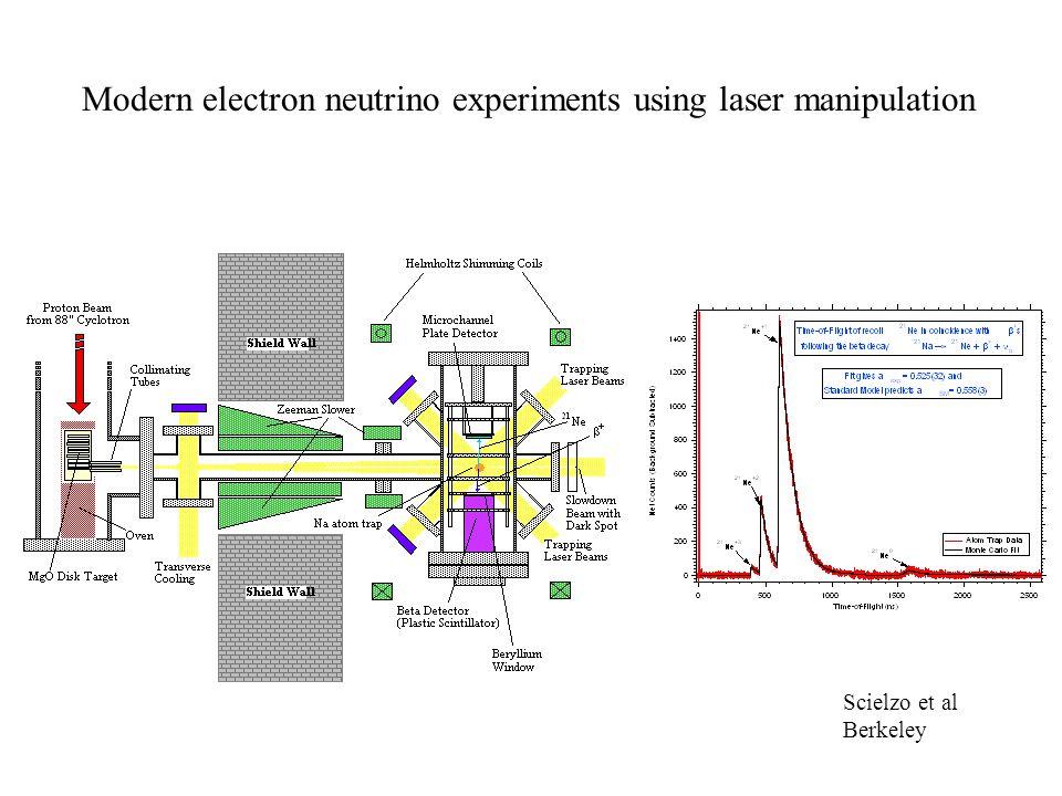 Modern electron neutrino experiments using laser manipulation Scielzo et al Berkeley
