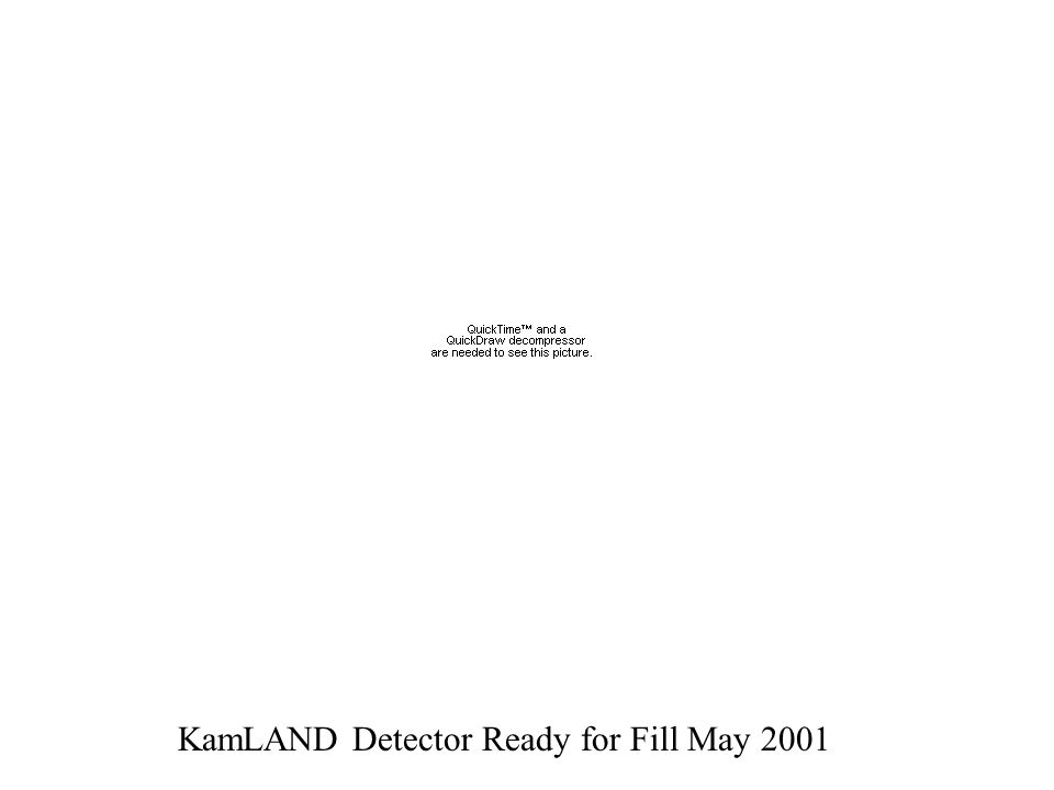 KamLAND Detector Ready for Fill May 2001