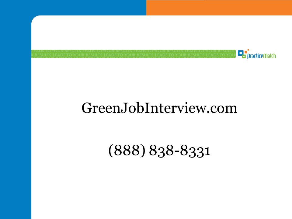 GreenJobInterview.com (888) 838-8331
