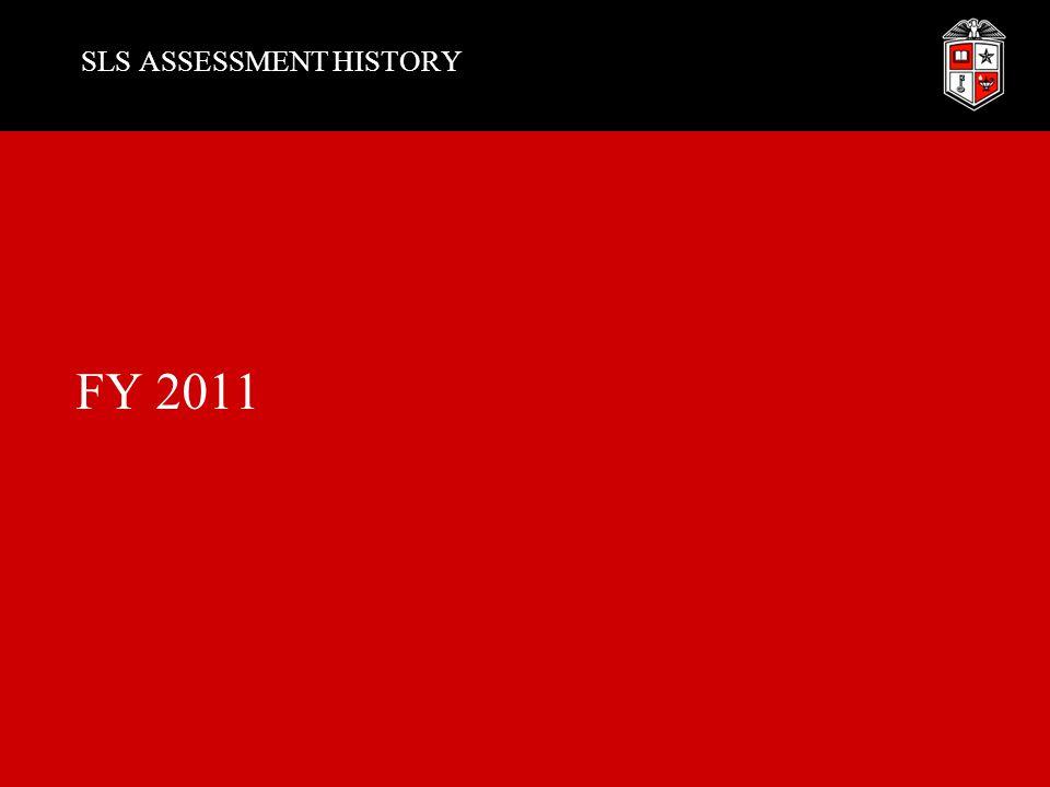 SLS ASSESSMENT HISTORY FY 2011