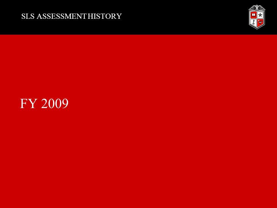 SLS ASSESSMENT HISTORY FY 2009