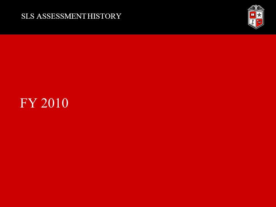 SLS ASSESSMENT HISTORY FY 2010