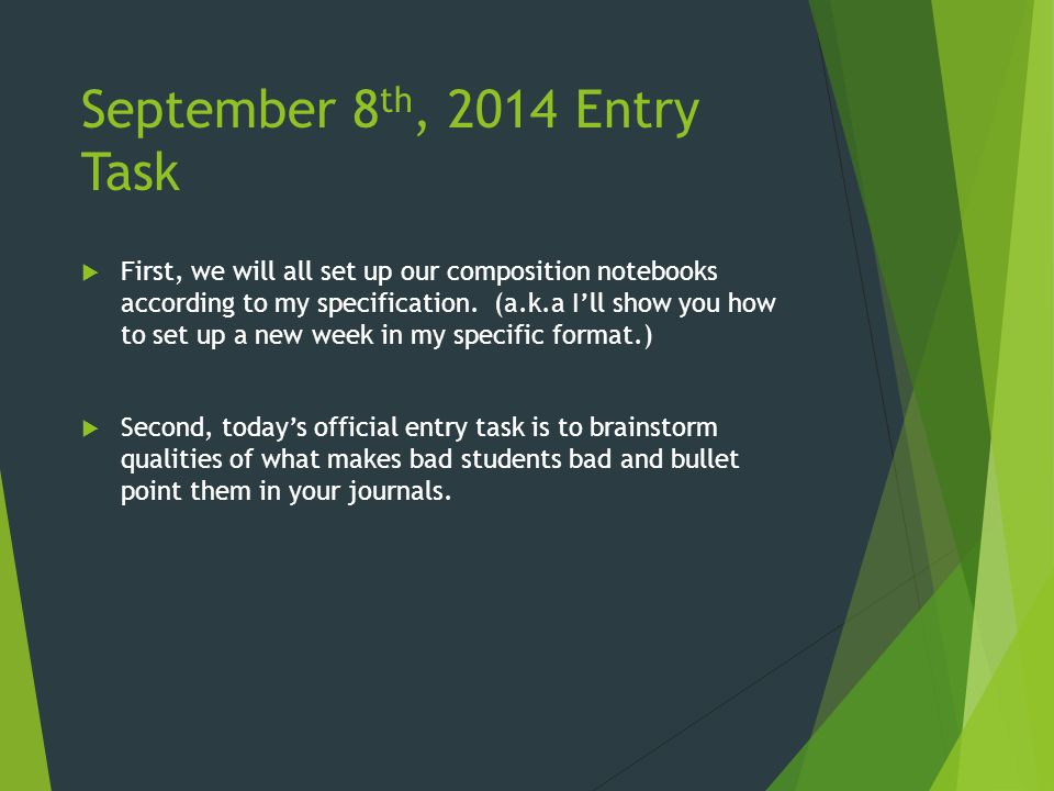 February 5 th, 2015 Entry Task  Time is running out.