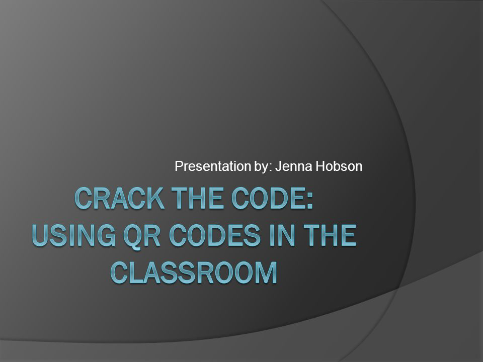 Presentation by: Jenna Hobson