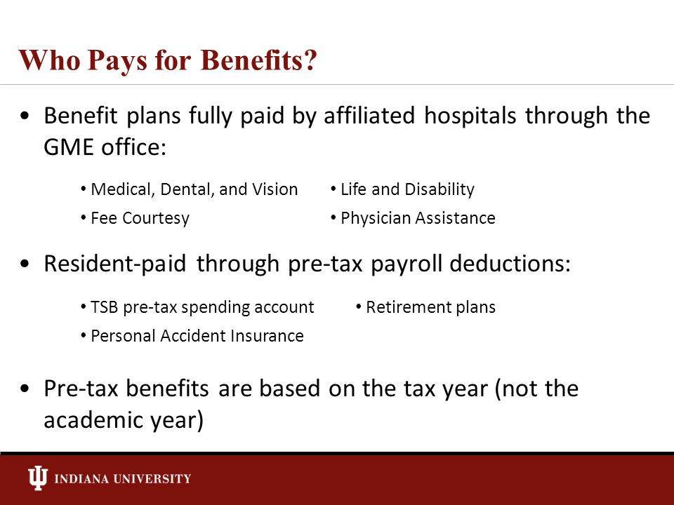 Who Pays for Benefits.