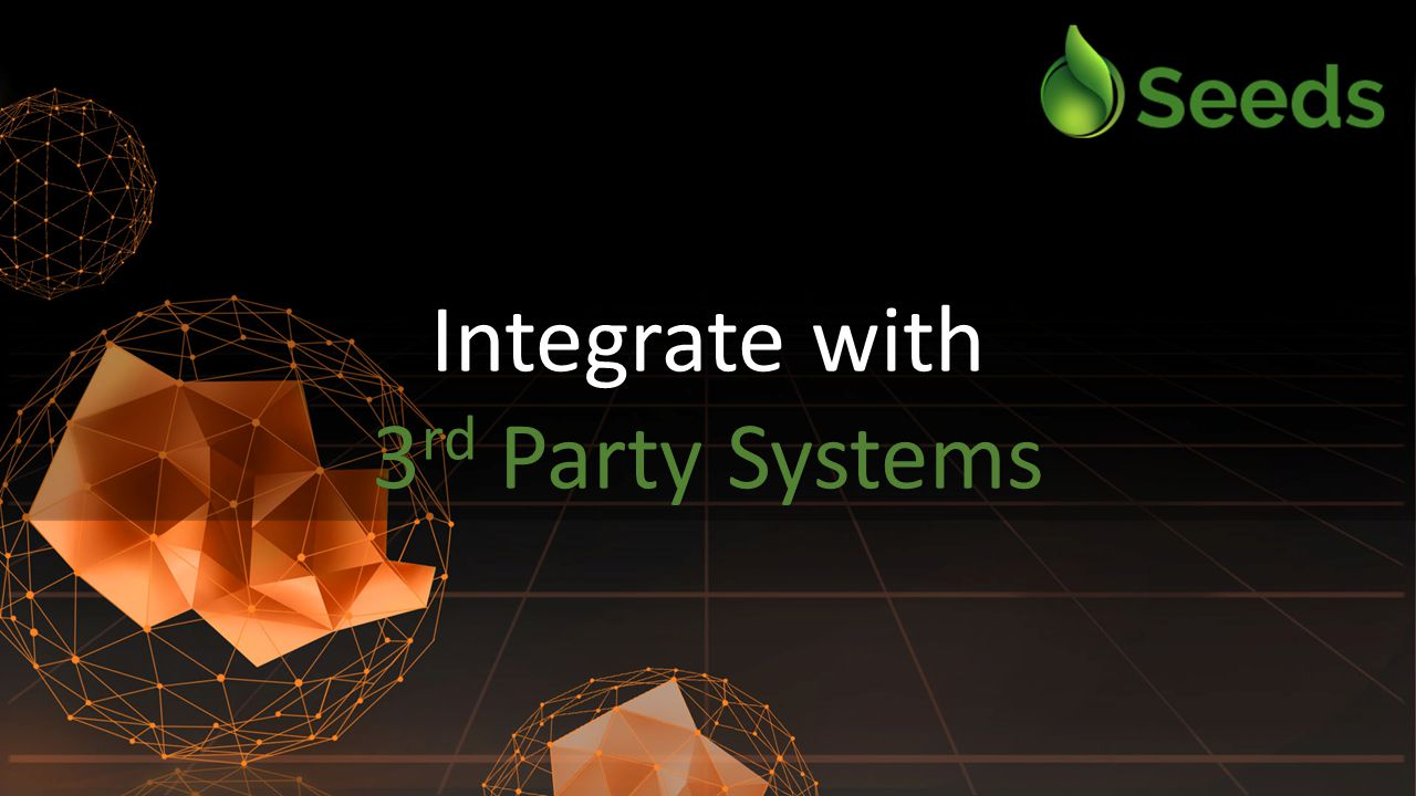 Integrate with 3 rd Party Systems Integrate with 3 rd Party Systems