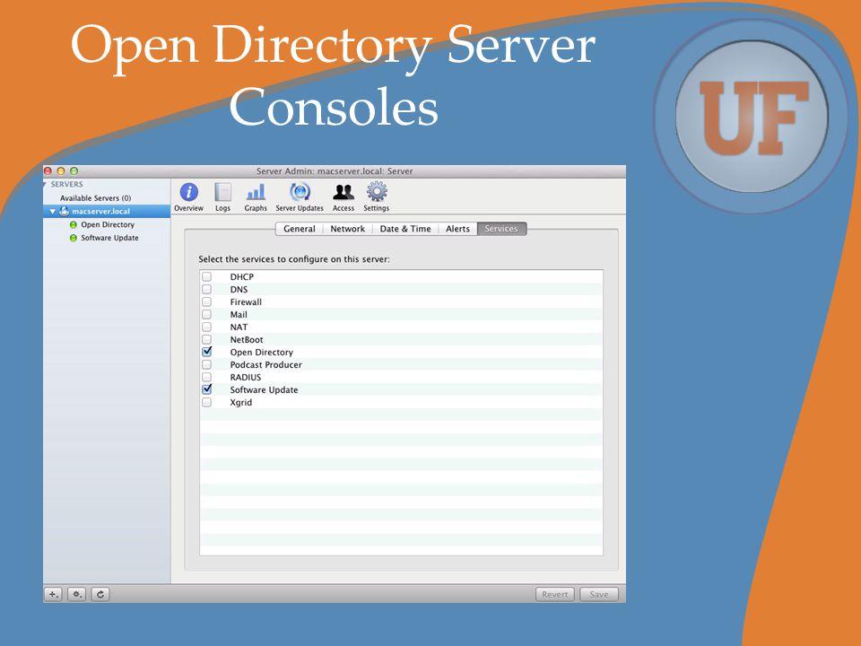 Open Directory Server Consoles