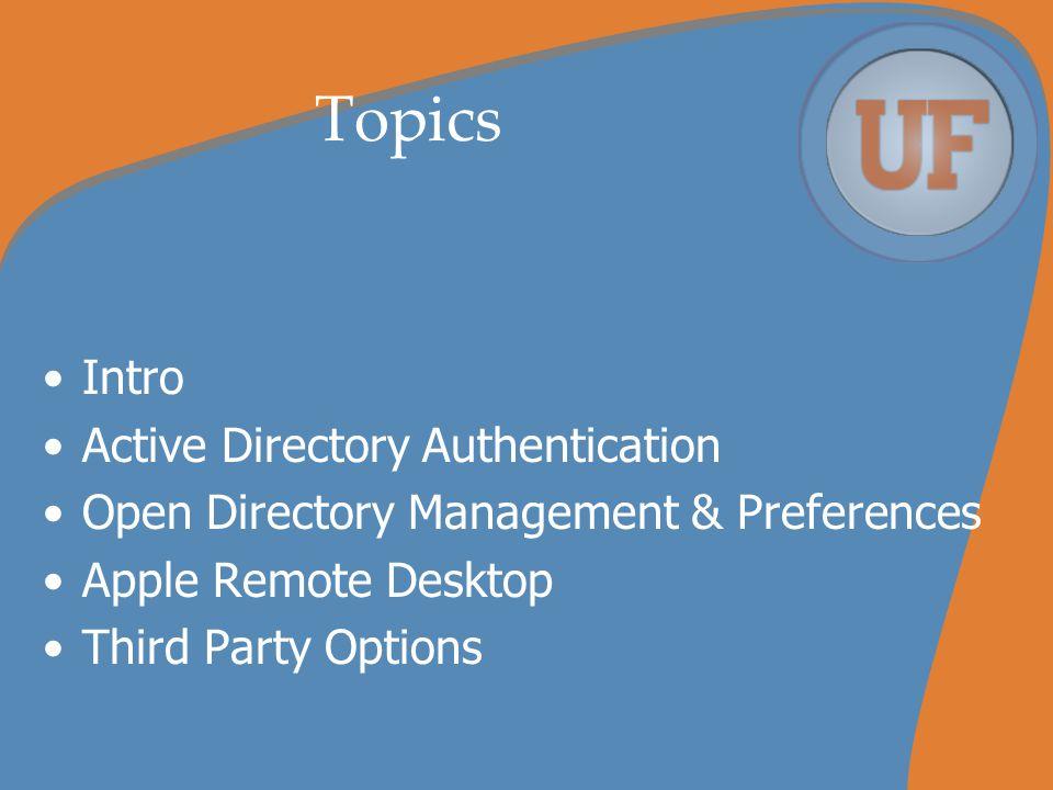 Apple Remote Desktop ARD setup –Start with Scanner –Utilize local administrator account for administration