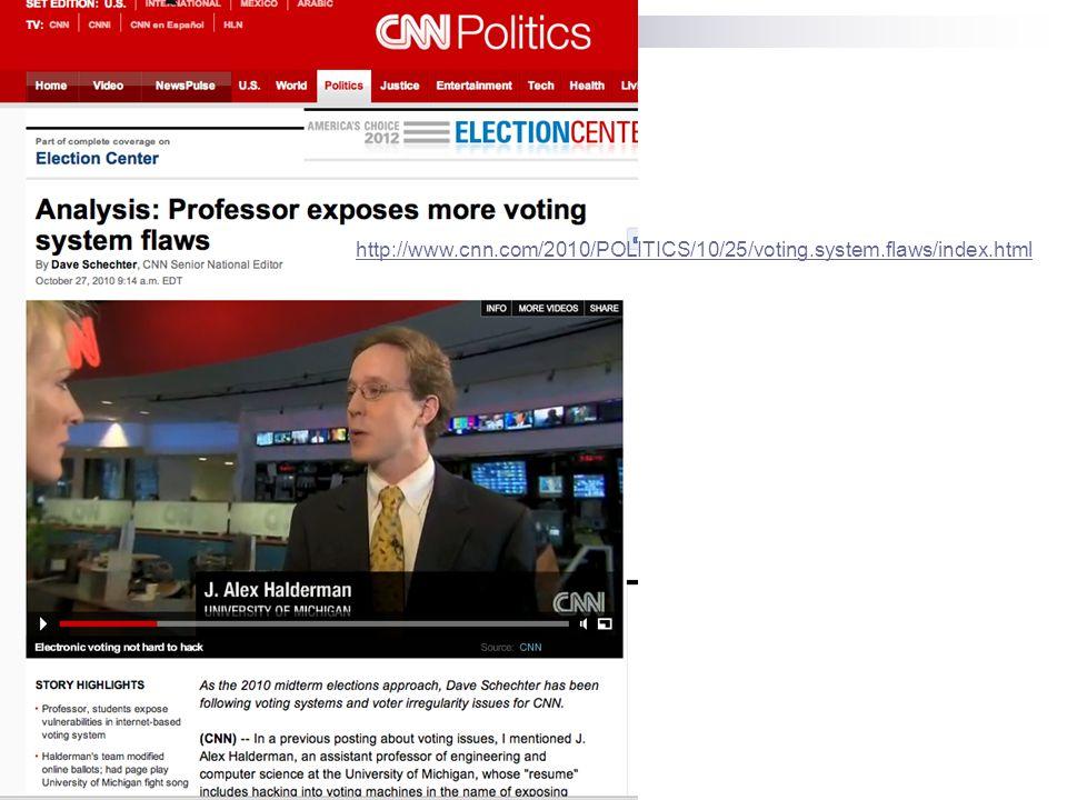 http://www.cnn.com/2010/POLITICS/10/25/voting.system.flaws/index.html