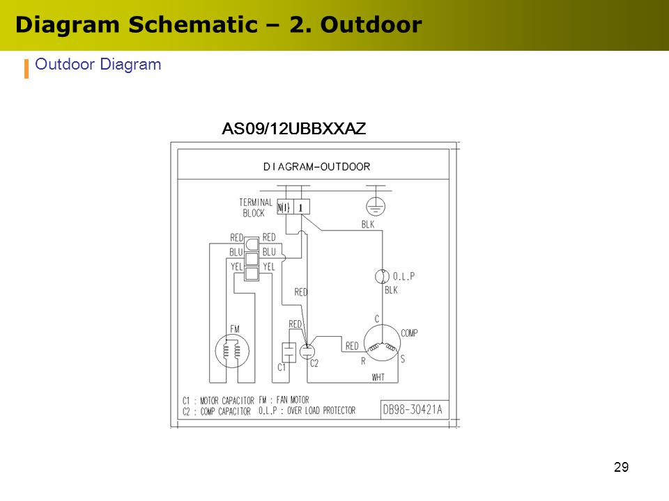 29 Diagram Schematic – 2. Outdoor Outdoor Diagram AS09/12UBBXXAZ