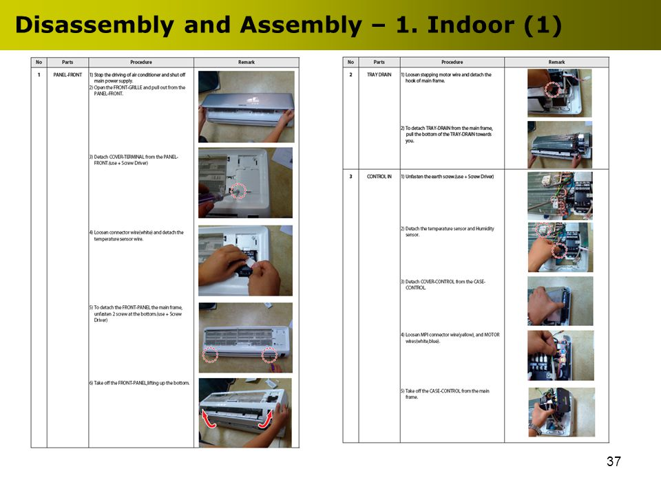 37 Disassembly and Assembly – 1. Indoor (1)