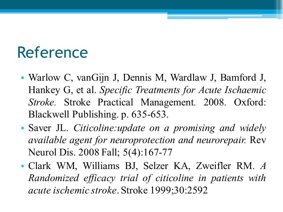 Reference Warlow C, vanGijn J, Dennis M, Wardlaw J, Bamford J, Hankey G, et al.