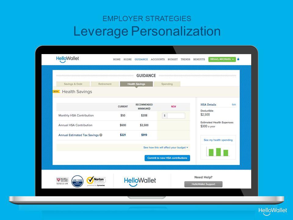 EMPLOYER STRATEGIES Leverage Personalization