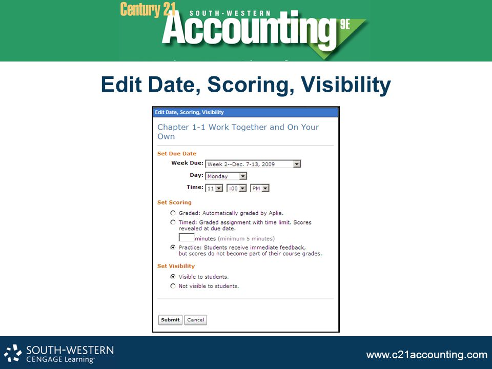 www.c21accounting.com Edit Date, Scoring, Visibility