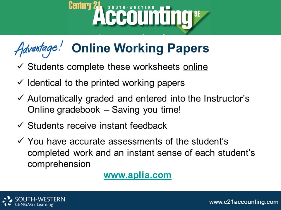 www.c21accounting.com Graded Assignments assess student and class progress NEW.