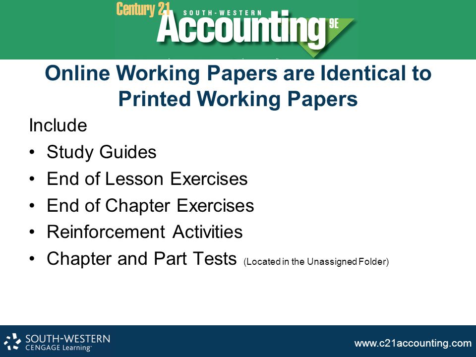www.c21accounting.com OWP FAQs How long do the access codes last once activated.