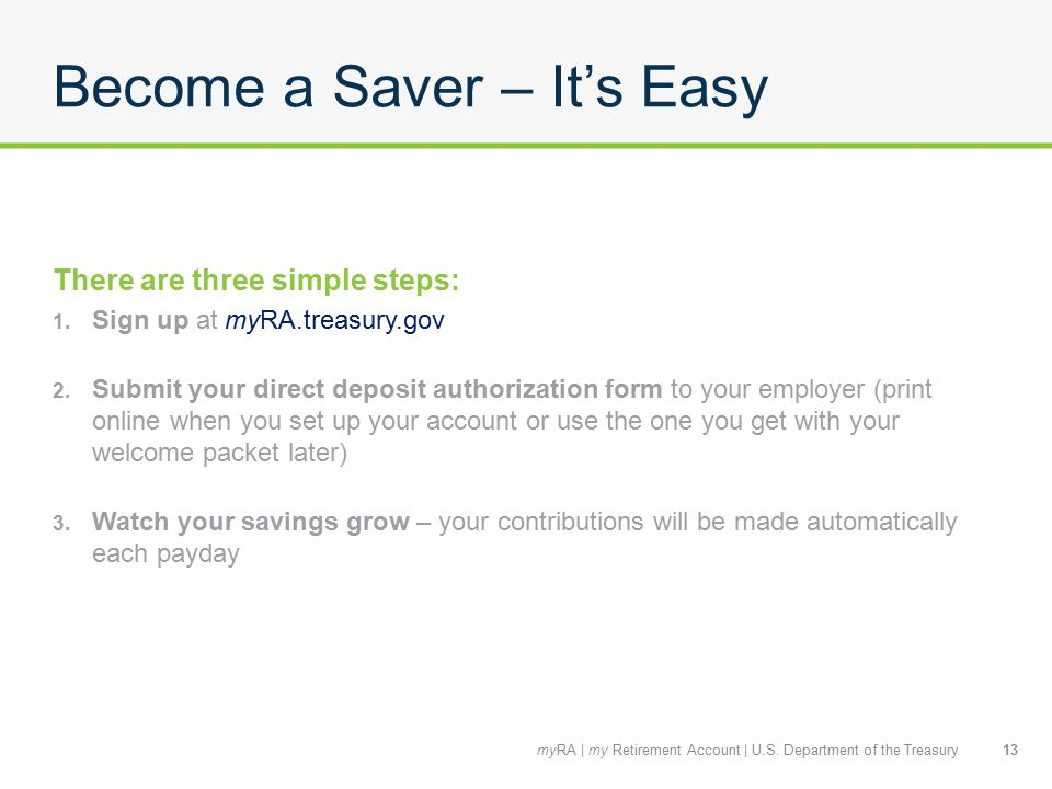 Become a Saver – It's Easy There are three simple steps: 1.