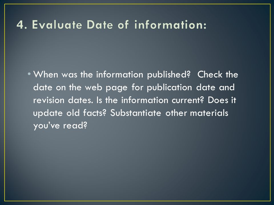 When was the information published.