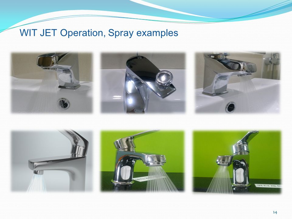 WIT JET Operation, Spray examples 14