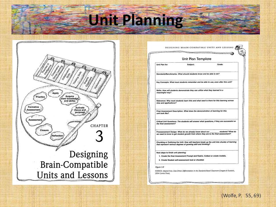 Unit Planning (Wolfe, P. 55, 69)