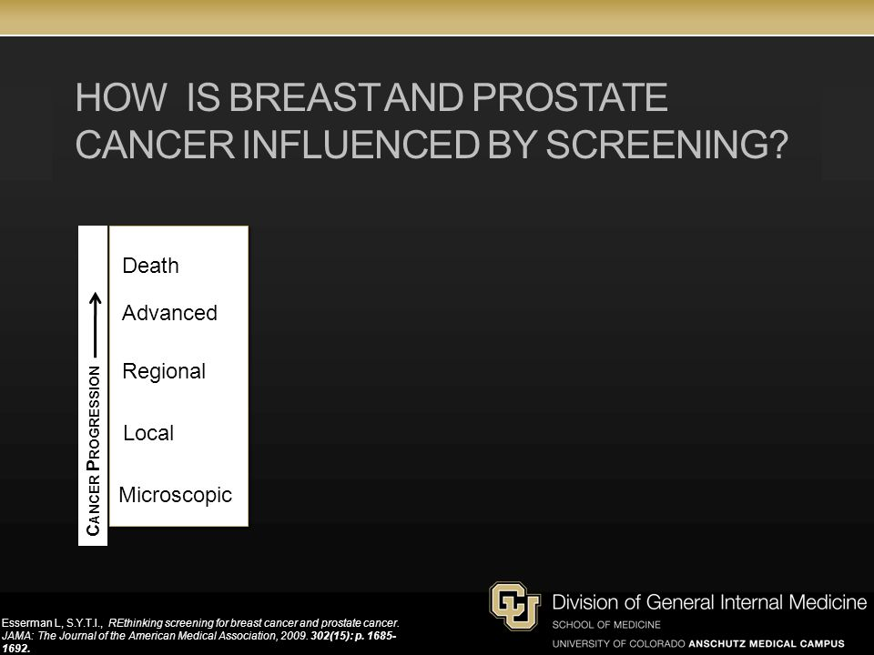 HOW IS BREAST AND PROSTATE CANCER INFLUENCED BY SCREENING.